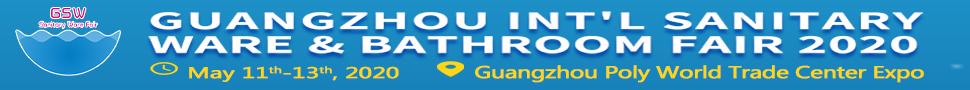 Guangzhou International Sanitary Ware & Bathroom Fair 2020. <b>May 11th-13th, 2020. Guangzhou Poly World Trade Center Expo.</b>